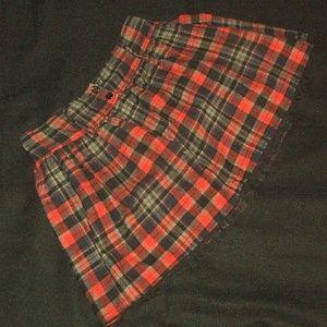 Plaid Mini Shirt w/Lacy Under Layer